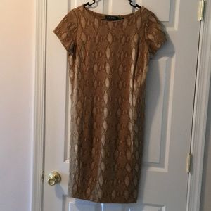 Ralph Lauren Snakeskin Sheath Dress Women's Size M